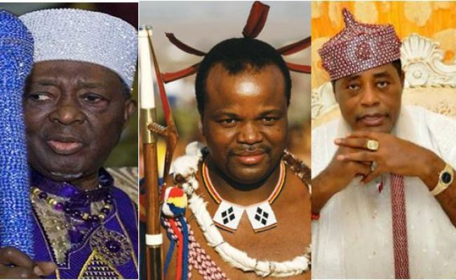 Top 5 Richest Kings in Africa 2021.