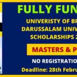Scholarship at Brunei Darussalam University in Brunei 2021